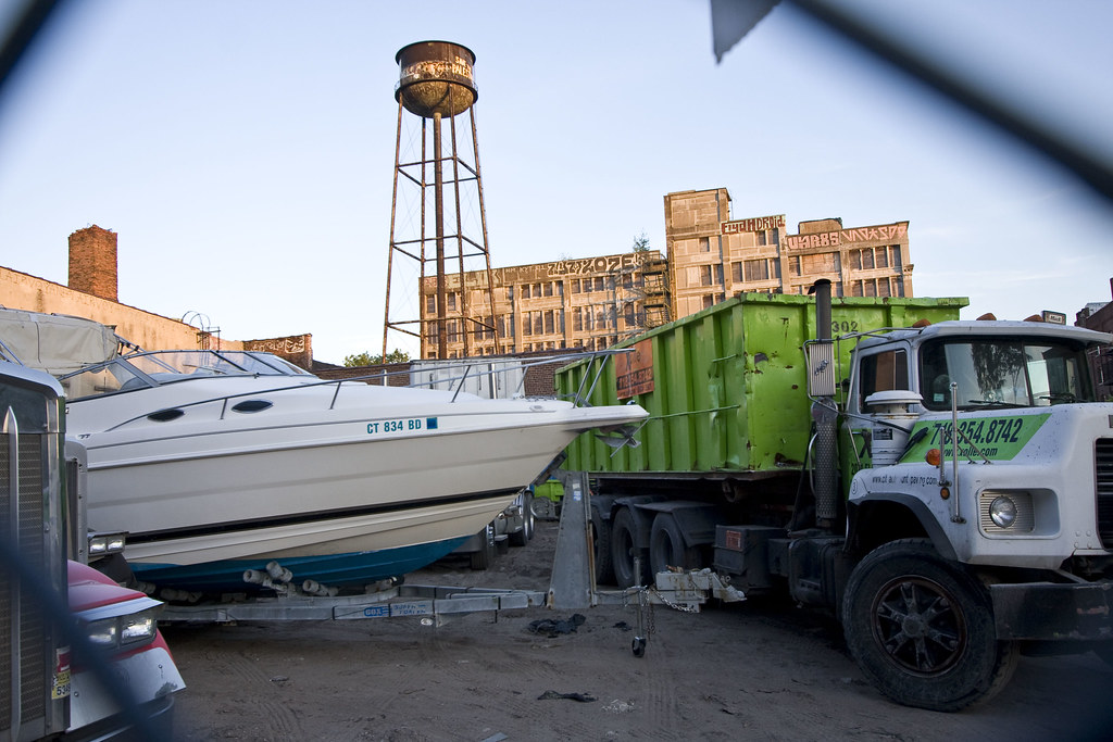 Boat truck water tower