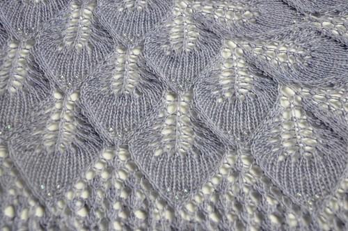 Frozen Leaves shawl finished