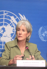 Kathleen Sebelius, Secretary of Health and Human Services, UN Press Conference