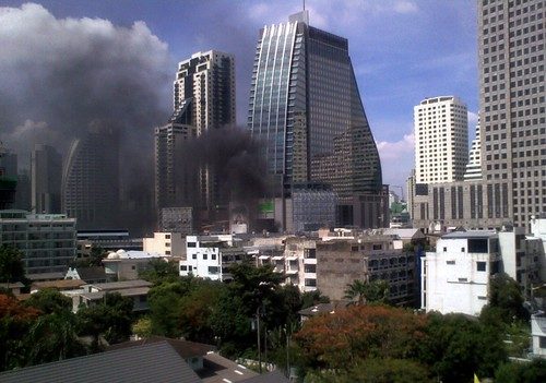 Smoke from Asoke intersection