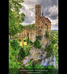 Lichtenstein Castle - Honau, Germany (HDR) (farbspiel) Tags: old travel vacation holiday tourism yellow clouds photoshop germany deutschland photography ancient nikon cloudy wolken wideangle palace journey handheld mystical alb nikkor schloss landschaft dri deu hdr highdynamicrange castel burg wolkig workflow postprocessing badenwrttemberg schwbischealb swabian dynamicrangeincrease 18200mm d90 photomatix tonemapped tonemapping honau detailenhancer topazadjust topazdenoise klausherrmann topazsoftware hdrworkflow topazphotoshopbundle nikonafsdxnikkor18200mm13556gedvr