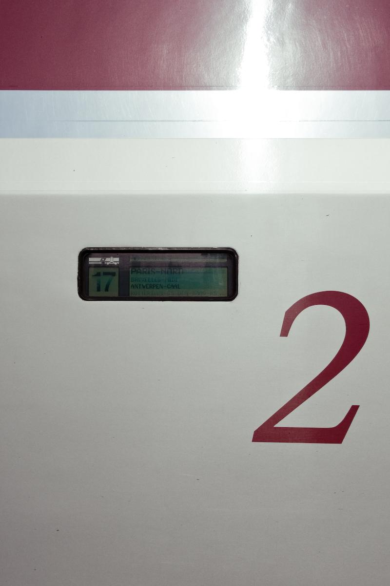 Thalys à destination de Amsterdam Centrale