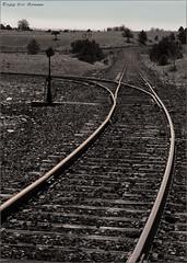 548: Rocky Flats Tracks ( iSite Photography) Tags: bw print traintracks denver colroado apr10 rockyflats ericosmann plasticjefferson