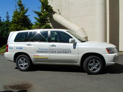 Fuel cell vehicle at HSU.
