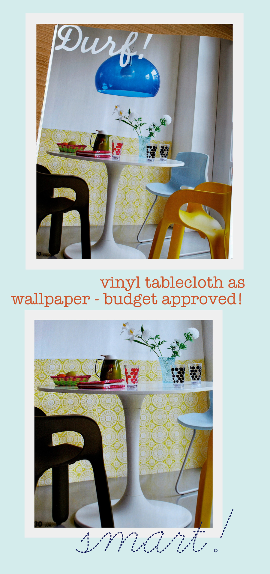 Vinyl Tablecloth As Wallpaper?