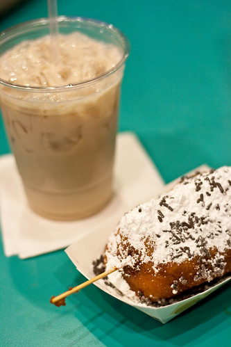white russian and a deep fried twinkie