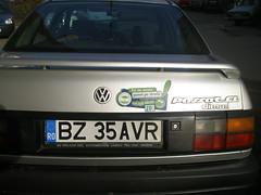 Fotografie trimisa de George S (Umbrela Verde) Tags: verde sticker passat umbrela csr wolkswagen ecologie buzau campanie mediu protectiamediului mariapetrisor