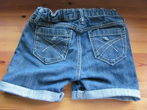 Jean shorts - back