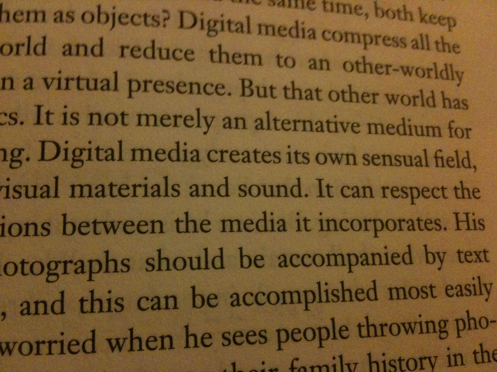 Digital media creates its own sensual field