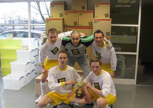 Introducing Big Yellow Self Storage's New Malden Footie Team, The Omen!
