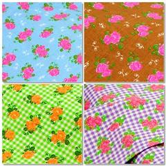 ♠ Summer Roses ♠ (Wonderlineland❤) Tags: flores metro material wonderland rosas vichy tecido algodão fq costura retalho