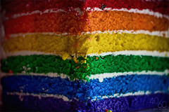 Rainbow Cake Surprise Explored! (Kevin Conor Keller) Tags: birthday 2 colors june cake canon 50mm yummy rainbow awesome 18 2010 avin 4060 550d t2i fortysixty