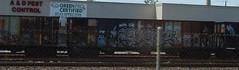 Tomb, Gros (eatskisleep) Tags: ri train bench island graffiti trains providence rhode freight freights