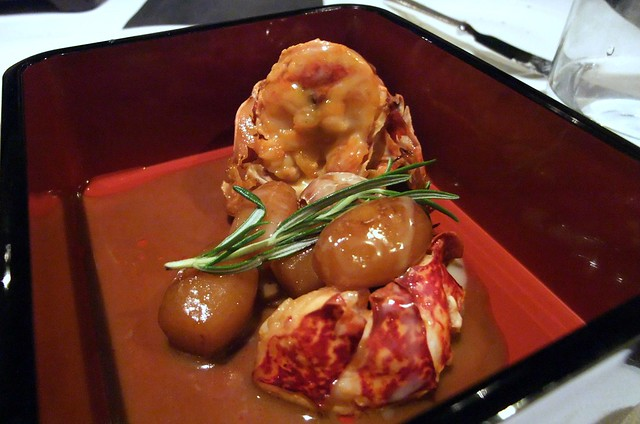 "Navarin de homard, pomme de terre nouvelles au romarin (Lobster stew and potatoes with rosemary ""Noirmoutier"" )"