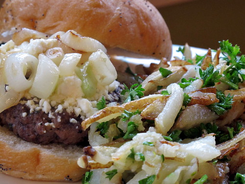Lamb Burger and Truffle Fries