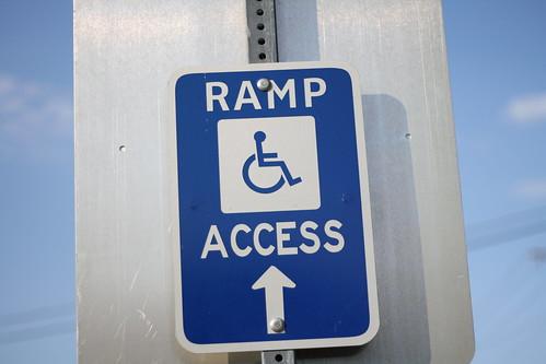 Ramp Access Sign