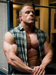 Self-satisfied. (muscle[spell]bound) Tags: man training power masculine muscle hunk bodybuilding buff strong strength muscleman bodybuilder workout gym macho weight protein weights testosterone bicep steroids tricep culturismo testosteron musculos bizeps muskel testos muskelmann culturiste