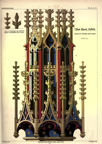019-Parte de la cubierta de madera-Iglesia Ufford-Suffolk-Gothic ornaments.. 1848-50-)- Kellaway Colling