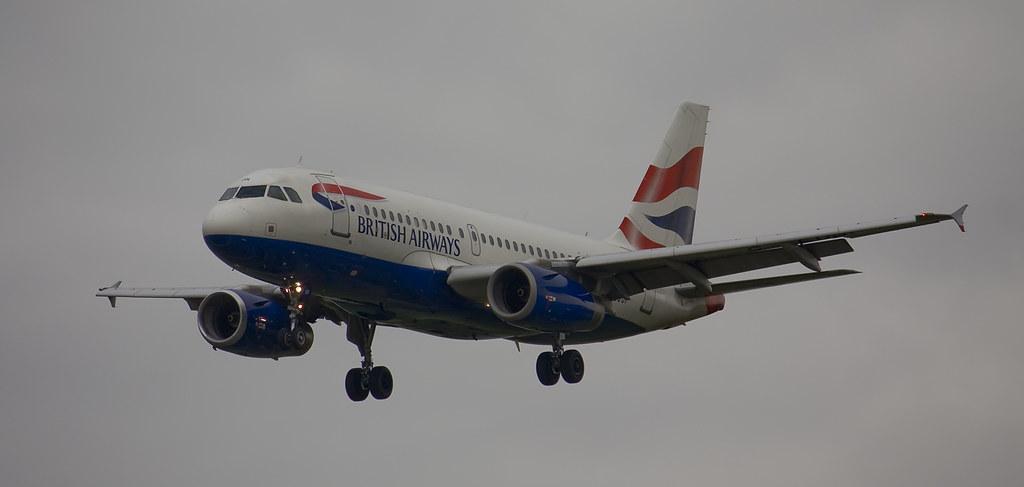 British Airways Airbus A319-131 Heathrow Final Approach 'G-EIDU'