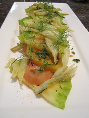 Heirloom Tomato Salad with Caramelized Fennel (JustAddCheese) Tags: tomato maryland appetizers fennel hierloom