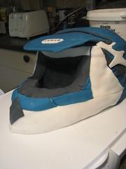 Brother's Dirtbike Helmet (CRayzee Cakes) Tags: cakes cake helmet icing dirtbike dexter fondant rayzee