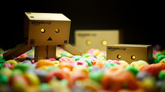 061/365:  Swimming In A Pool Of FruitLoops. (Randy Santa-Ana) Tags: food pool swim toys snack fruitloops danbo gf1 project365 danboard minidanboard minidanbo 365daysofdanbo