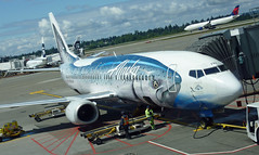 Alaska Airlines flight evacuated after bomb threat