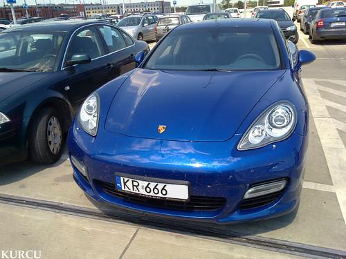 Porsche Panamera Turbo Aqua Blue