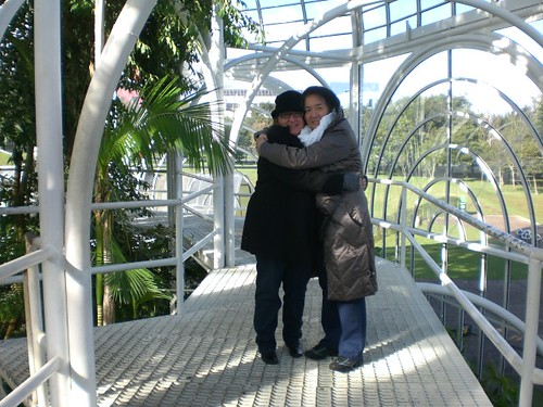Gisele e Sanjay no Jardim Botânico