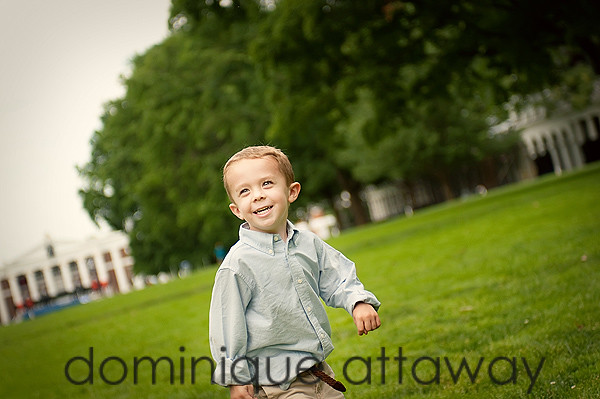 boy running Lawn UVA