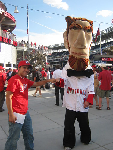 Abe and I at Nationals Park