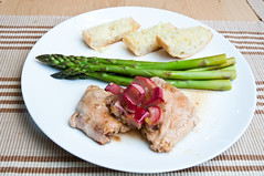 Rhubarb Chicken with Asparagus