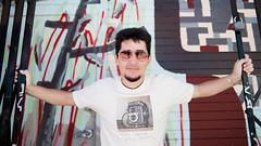 the man with the best t-shirt collection (cindyloughridge) Tags: sanfrancisco seth themission clarionalley doublecappuccino nikond700 nikkor28mmf2mf