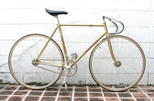 Gold Sparkle Nagasawa Frame Track NJS Keirin - a photo on Flickriver