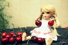 Cherry earrings (Cakau ) Tags: summer dress fairyland cherryearrings cakau littlefeeante