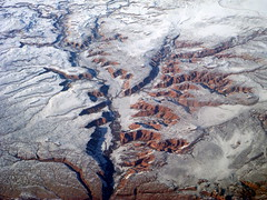 LAX to Toronto (16) (kexi) Tags: winter wallpaper usa white snow america river flying high nikon view flight canyon aerial coolpix february 2010 windowseat instantfave