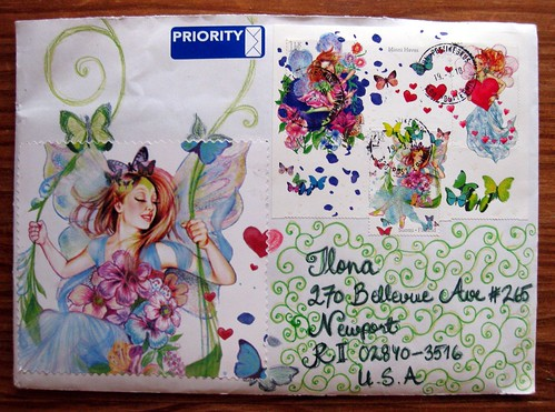 Fairy stamp letter from Finland