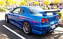 Nissan Skyline GT-R (agup627) Tags: california 2001 blue light red arizona sun cars sports coffee car wheel japan skyline movie paul automobile nissan bright oz 5 tail rear wheels fast plate az next walker r level license scottsdale gt carbon custom fiber gen 5th motorsports coupe generation ff exhaust taillight furious carbonfiber spoiler gtr paulwalker nismo imported rhd r34 fastandfurious gtt superleggera fastfurious carsandcoffee nextlevelmotorsports