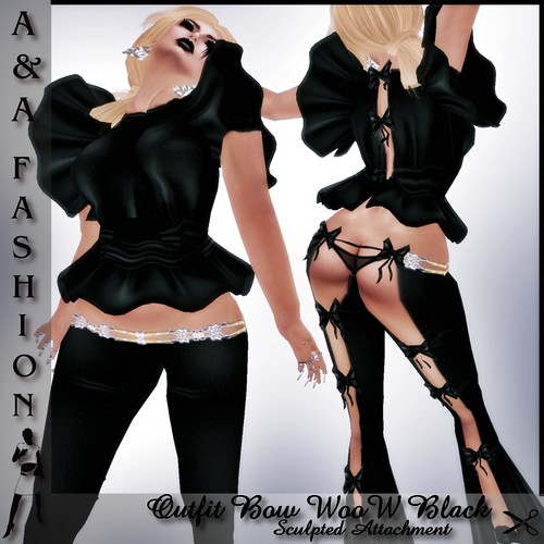 A&A Fashion Outfit Bow WooW Black