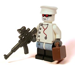 Weird War II Nazi Doctor (*Nobodycares*) Tags: lego zombie nazi wwii worldwarii doctor german ww2 guns briefcase axis vampir mp44 brickarms stg44 weirdwarii