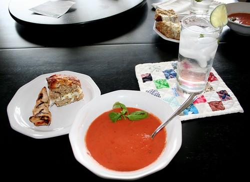 La Madeleine's basil soup