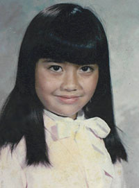 baby rie with crooked bangs