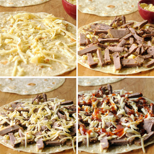 How to assemble Brisket and Pepper Jack Quesadilla