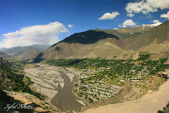 Chitral (Iqbal.Khatri) Tags: travel blue pakistan sky mountain snow west green bird eye nature beauty clouds river view north valley fields himalaya capped nwfp province frontier kalash mountainrange aeriel iqbal kalasha chitral northernvalley hindukush northernarea khatri northpakistan travelandplaces northernareaofpakistan karokoram