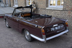 triumph herald britt cabriolet (5) (pontfire) Tags: auto france cars car classiccar automobile triumph normandie autos oldcar britt herald eure britishcar triumphherald louviers heraldbritt
