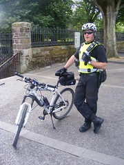 Armed Police with Push Bikes on Derry's Famous Walls (seanfderry-studenna) Tags: blue ireland light mountain bike bicycle stand uniform branded north police racing londonderry service walls northern officer derry ulster armed psni