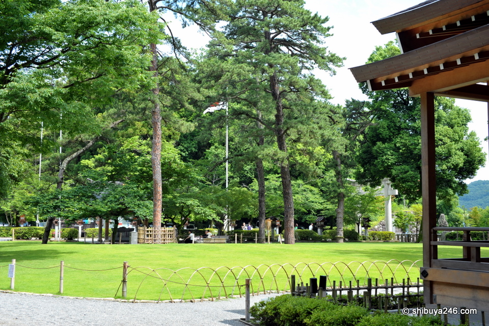 There was quite a lot of greenery around the shrine area. It almost looked park like in its presentation.
