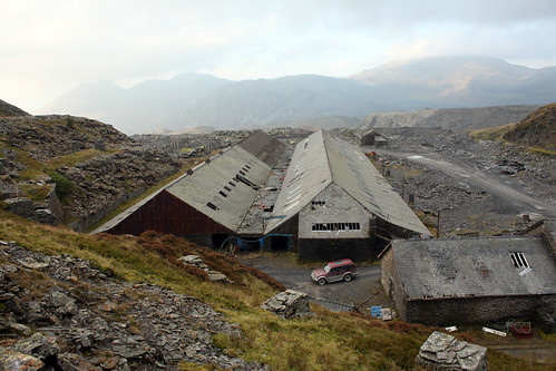 Saw Mill largest building at Maenofferen Slate Quarry