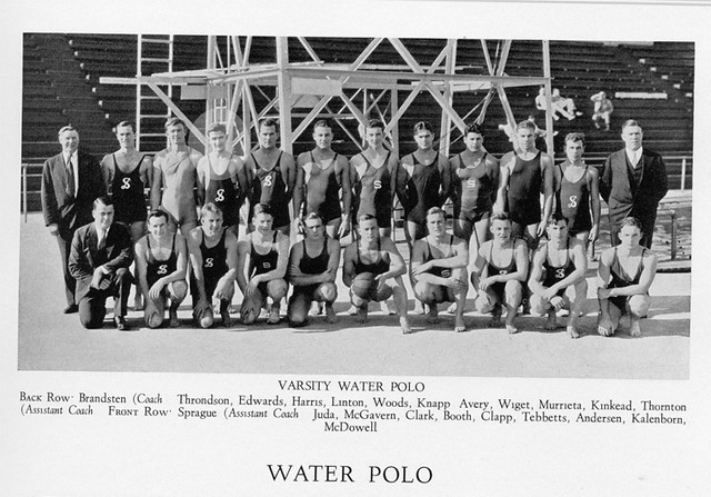 larry with the water polo team