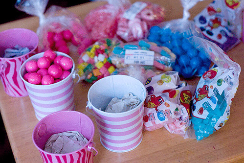 Economy Candy all with the pink violet and turquoise color scheme
